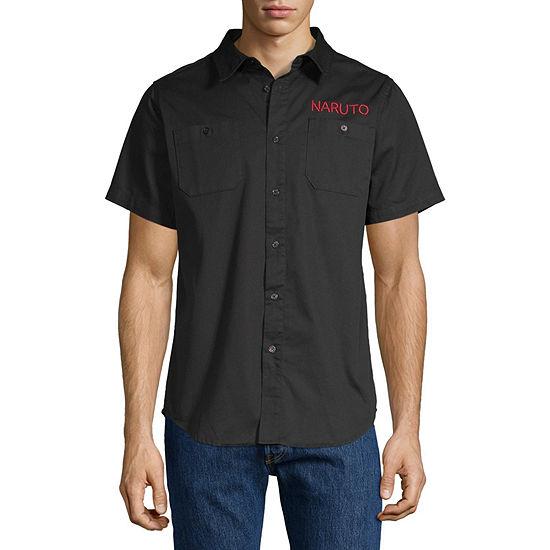 Mens Short Sleeve Button-Down Shirt