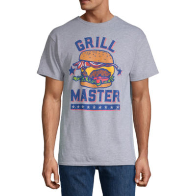Grill Master Mens Crew Neck Short Sleeve Americana Graphic T-Shirt