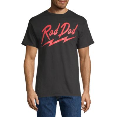 Rad Dad Mens Crew Neck Short Sleeve Graphic T-Shirt