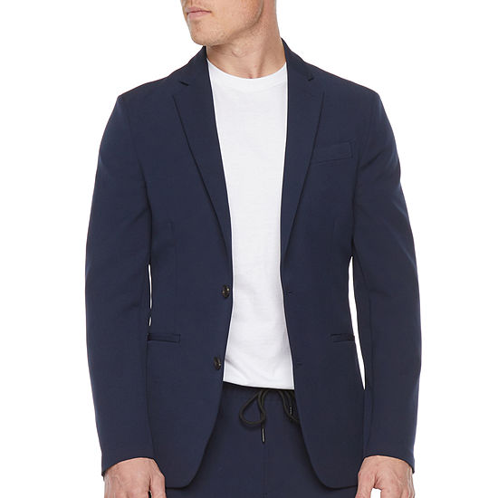 JF J.Ferrar 360 Washable Navy Mens Stretch Slim Fit Suit Jacket