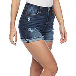 "Vanilla Star Womens Juniors High Rise 2 1/2"" Denim Short"