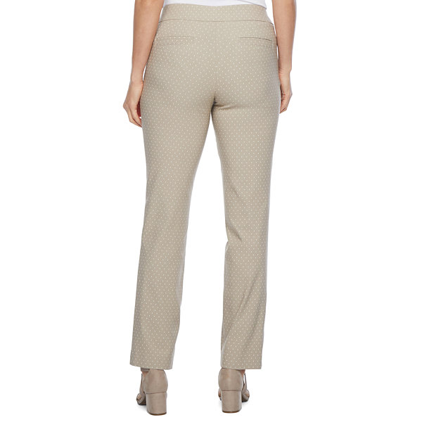 Liz Claiborne Womens Straight Pull-On Pants