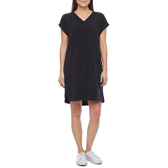 Stylus Short Sleeve Shift Dress