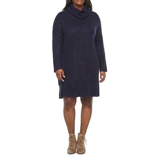 Liz Claiborne Plus Cowl Neck Sweater Dress