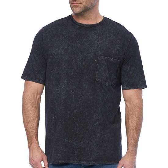 The Foundry Big & Tall Supply Co. Mens Crew Neck Short Sleeve Washed Pocket T-Shirt