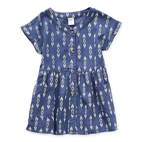 Peyton & Parker Mommy & Me Toddler Girls Short Sleeve Diamond A-Line Dress