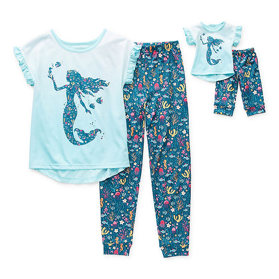 Little & Big Girls 2-pc. Pant Pajama Set