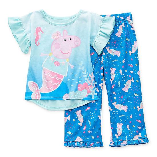 Toddler Girls 2-pc. Peppa Pig Pant Pajama Set