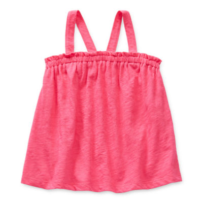 Okie Dokie Toddler Girls Straight Neck Tank Top