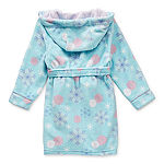 Disney Collection Little & Big Girls Fleece Frozen Long Sleeve Mid Length Robe