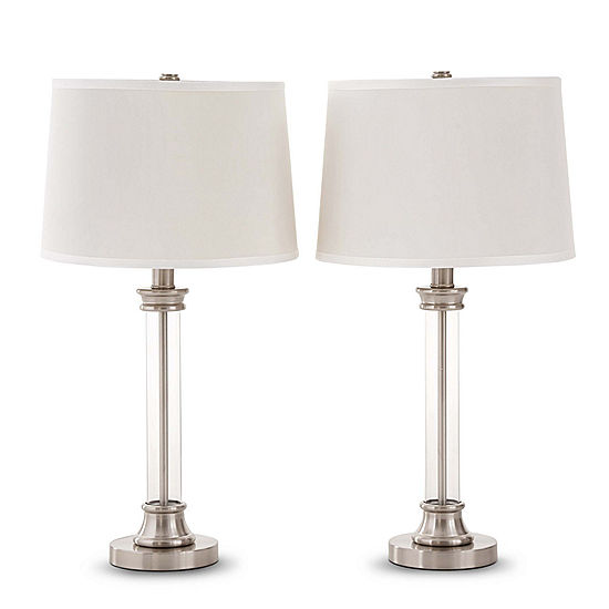 Jcpenney home set of 2 acrylic column table lamps jcpenney jcpenney home set of 2 acrylic column table lamps aloadofball Image collections