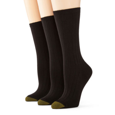 GoldToe® 3-pk. Ultra Soft Crew Socks