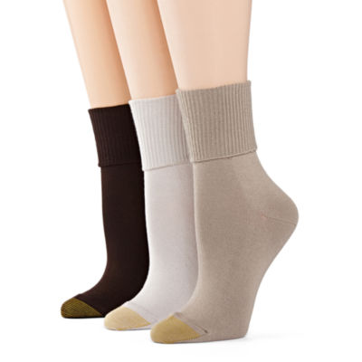 GoldToe® 3-pk. Ultra Soft Turn-Cuff Socks