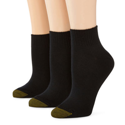 GoldToe® 3-pk. Ultra Soft Quarter Socks