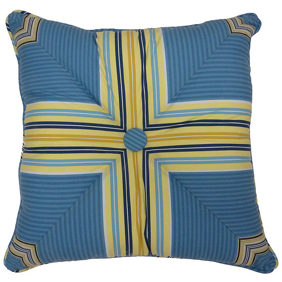 """Waverly® Imperial Dress 18"""" Button-Tufted Square Decorative Pillow"""