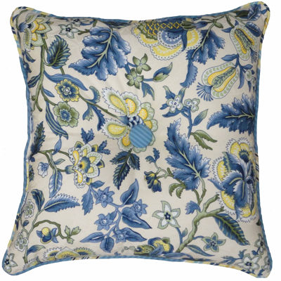 "Waverly® Imperial Dress 18"" Button-Tufted Square Decorative Pillow"