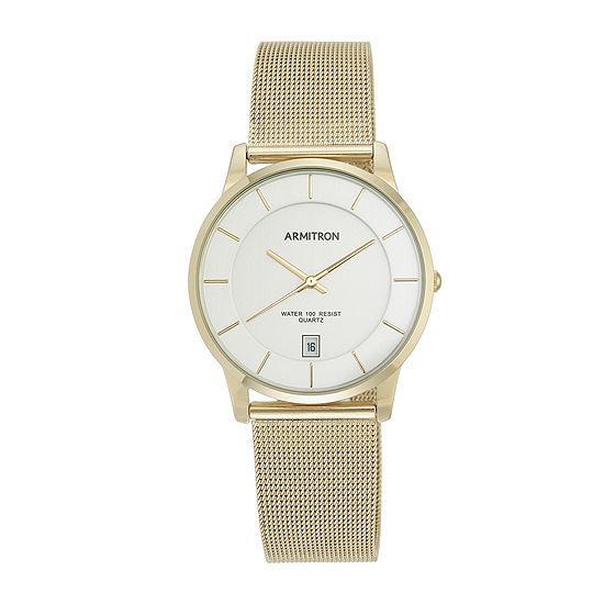 Armitron All Sport Mens Gold Tone Stainless Steel Bracelet Watch-20/5123svgp