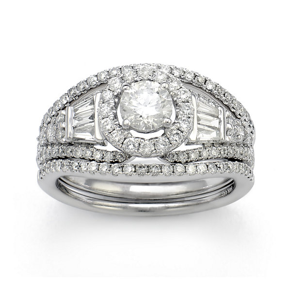 LIMITED QUANTITIES 1½ CT. T.W. Diamond 14K White Gold Engagement Ring