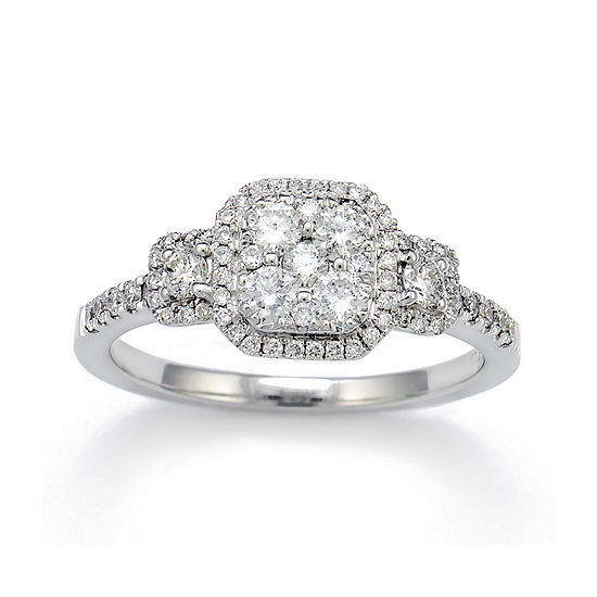 Limited Quantities 5 8 Ct Tw Diamond 14k White Gold Engagement Ring