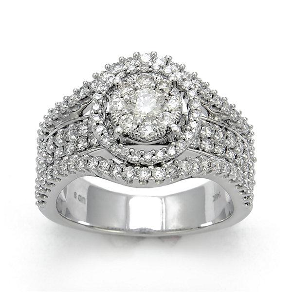 Fine Jewelry LIMITED QUANTITIES Mens 1 CT. T.W. Diamond 14K White Gold Band MgI4xG