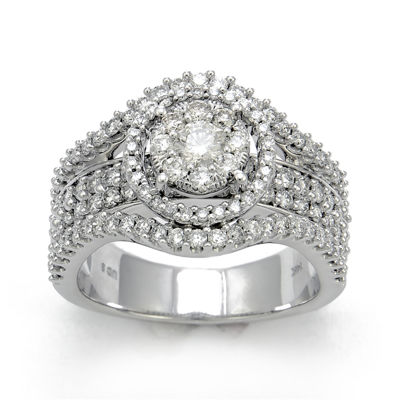 LIMITED QUANTITIES 1¾ CT. T.W. Diamond 14K White Gold Engagement Ring