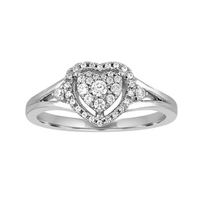 I Said Yes!™ 1/4 CT. T.W. Certified Diamond Heart Engagement Ring