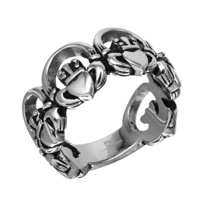 Stainless Steel Claddagh Band Ring