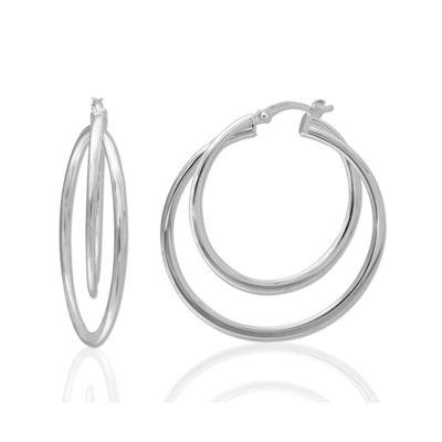 Sterling Silver Double-Twist Hoop Earrings