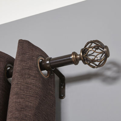 "Liz Claiborne® Cage Ball 1"" Adjustable Curtain Rod"