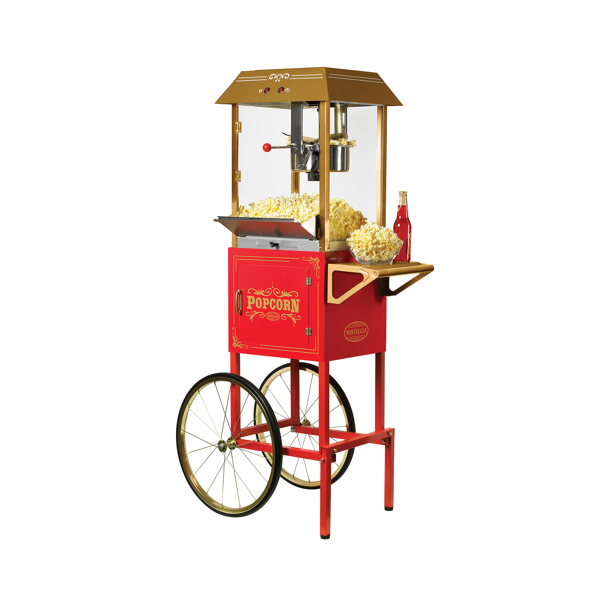 Nostalgia CCP1000 59-Inch Tall Commercial 10-OunceKettle Popcorn Cart