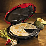 Nostalgia EQM200 Fiesta Series 6-Wedge Electric Quesadilla Maker with Extra Stuffing Latch