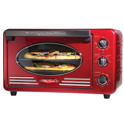 Nostalgia RTOV220RETRORED Retro Series 6-Slice Convection Toaster Oven