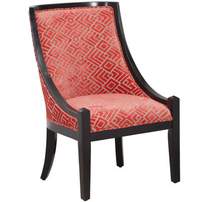 Annabell Coral and Black Accent Chair