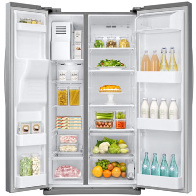 Samsung 24.5 cu. ft. Side-by-Side Refrigerator with External Ice  and  Water Dispenser
