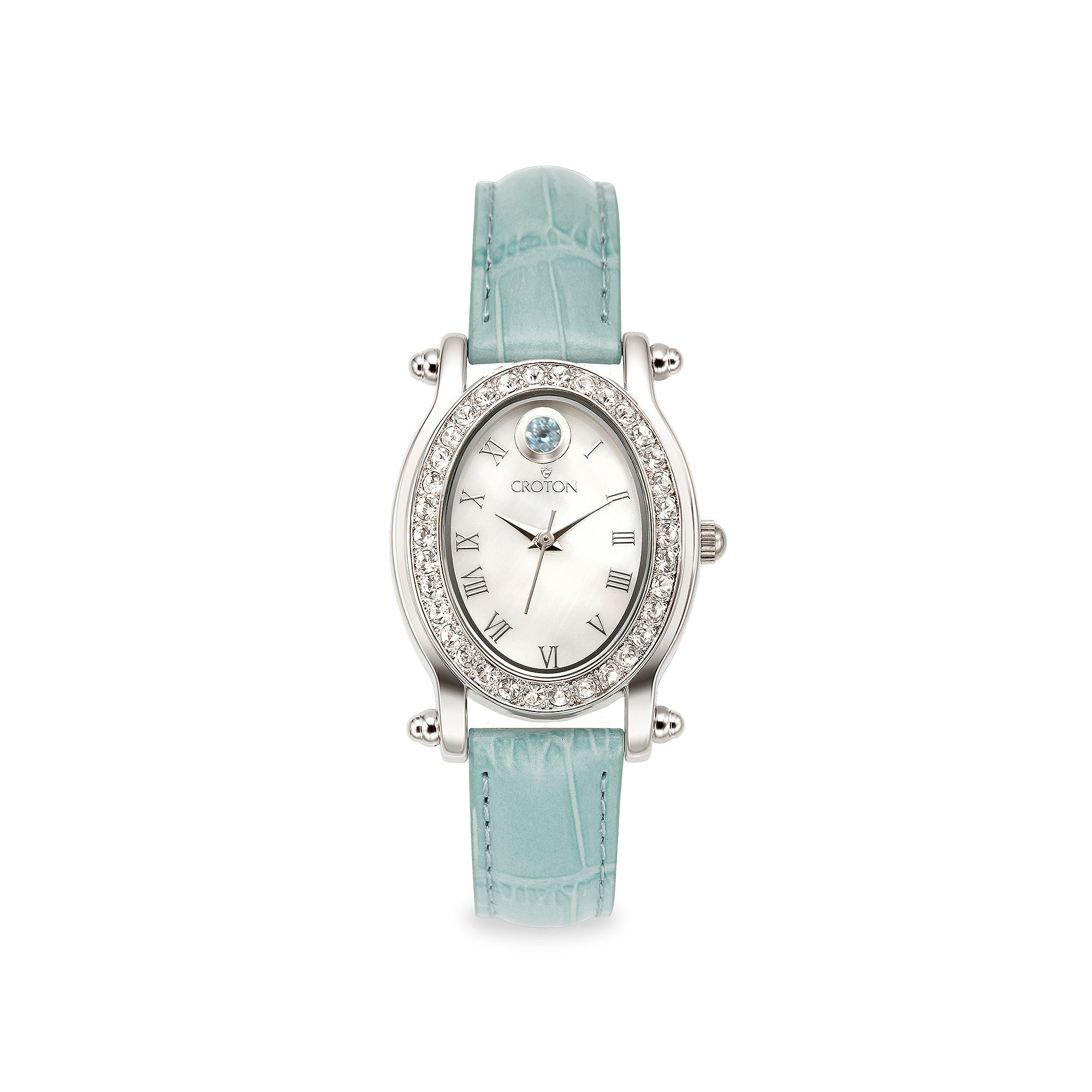 Croton Womens Blue Strap Watch-Cn207537tomp