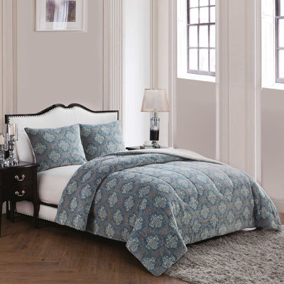 VCNY Jacquard Damask 3-pc. Comforter Set