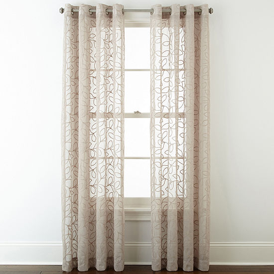 JCPenneyHome™ Serene Grommet-Top Sheer Curtain Panel