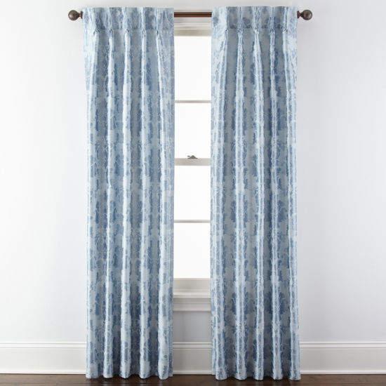 Royal Velvet® Supreme Damask Pinch Pleat/Back-Tab Curtain Panel
