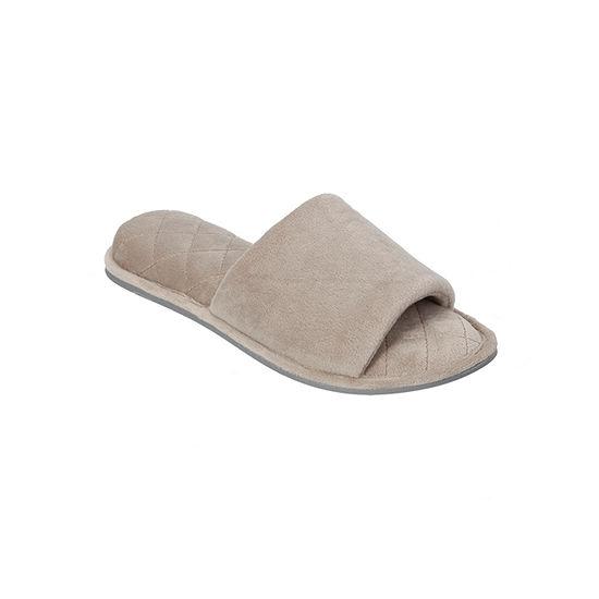 Dearfoams Velour Womens Slip-On Slippers