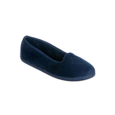 Dearfoams Velour Slip-On Slippers