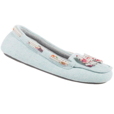 Isotoner Summer Twill Moccasin Slippers
