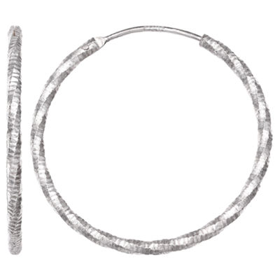 Silver Treasures 30mm Hoop Earrings