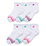 Adidas 6 Pack Cushion Quarter Socks -Womens
