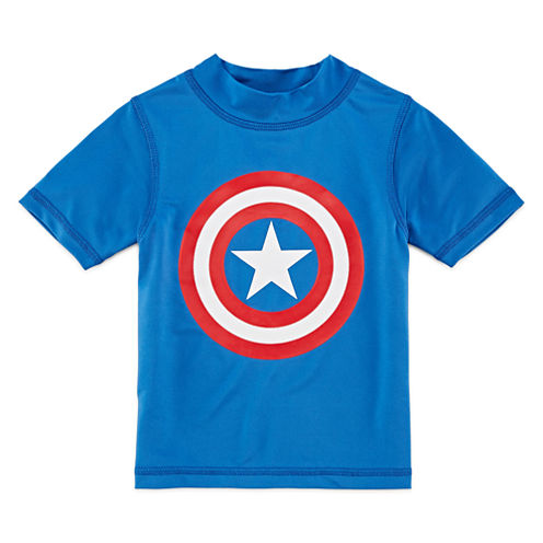 Boys Avengers Rash Guard-Toddler
