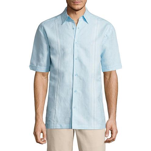 Havanera Panel Short Sleeve Button-Front Shirt
