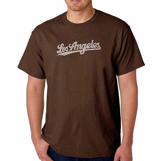 Los Angeles Pop Art Mens Crew Neck Short Sleeve T-Shirt-Big and Tall