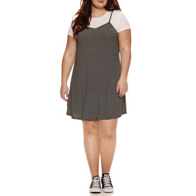 Arizona Tee + Rib Slip Dress- Juniors Plus