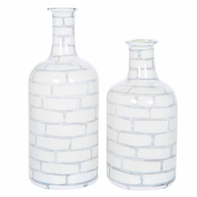 "Knox And Harrison 22"" Striped Opaque Decorative Bottles"