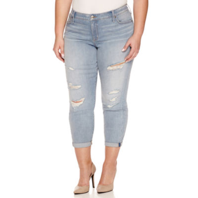 "Boutique + Denim 27"" Ankle Jeans - Plus"