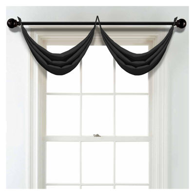 JCPenney Home Linen Grommet Unlined Waterfall Valance